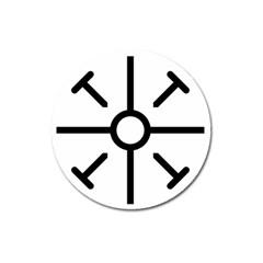 Coptic Cross Magnet 3  (round) by abbeyz71