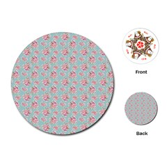 Floral Pattern Playing Cards (round)  by Valentinaart