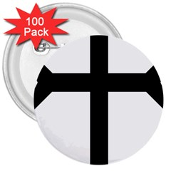 Eastern Syriac Cross 3  Buttons (100 Pack)  by abbeyz71