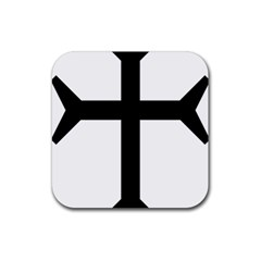 Eastern Syriac Cross Rubber Square Coaster (4 Pack)  by abbeyz71