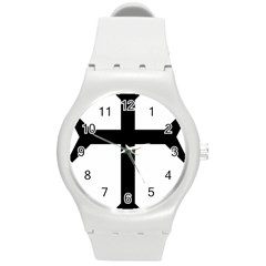 Eastern Syriac Cross Round Plastic Sport Watch (m) by abbeyz71