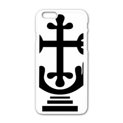 Anuradhapura Cross Apple Iphone 6/6s White Enamel Case by abbeyz71