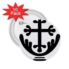 Anuradhapura Cross 2 25  Buttons (10 Pack)  by abbeyz71