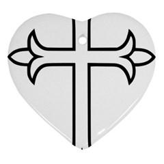 Western Syriac Cross Ornament (heart) by abbeyz71