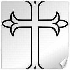 Western Syriac Cross Canvas 16  X 16   by abbeyz71