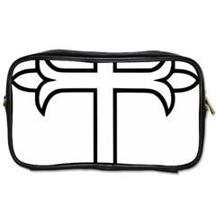 Western Syriac Cross Toiletries Bags 2 Side by abbeyz71