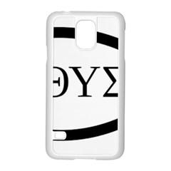 Ichthys  jesus Christ, Son Of God, Savior  Symbol  Samsung Galaxy S5 Case (white) by abbeyz71