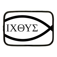 Ichthys  jesus Christ, Son Of God, Savior  Symbol Netbook Case (medium)  by abbeyz71