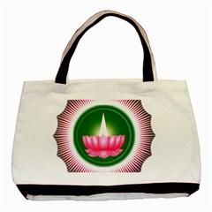 Ayyavazhi Symbol  Basic Tote Bag by abbeyz71