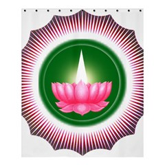 Ayyavazhi Symbol  Shower Curtain 60  X 72  (medium)  by abbeyz71