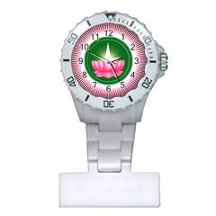 Ayyavazhi Symbol  Plastic Nurses Watch by abbeyz71