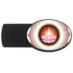Ayyavazhi Symbol  Usb Flash Drive Oval (2 Gb) by abbeyz71