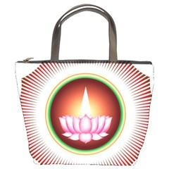 Ayyavazhi Symbol  Bucket Bags by abbeyz71