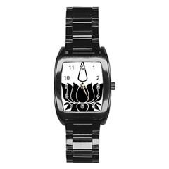 Ayyavazhi Symbol  Stainless Steel Barrel Watch by abbeyz71