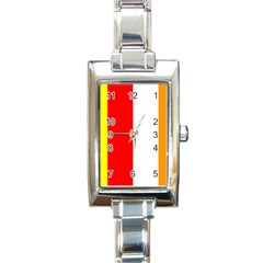 International Flag Of Buddhism Rectangle Italian Charm Watch by abbeyz71
