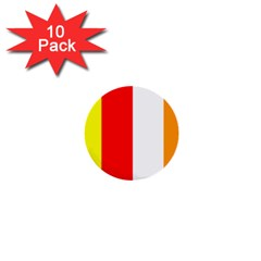 International Flag Of Buddhism 1  Mini Buttons (10 Pack)  by abbeyz71