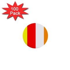 International Flag Of Buddhism 1  Mini Buttons (100 Pack)  by abbeyz71