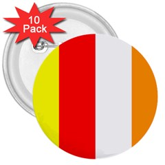 International Flag Of Buddhism 3  Buttons (10 Pack)  by abbeyz71