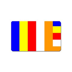 International Flag Of Buddhism Magnet (name Card) by abbeyz71