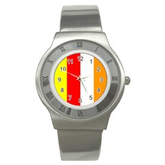 International Flag Of Buddhism Stainless Steel Watch by abbeyz71