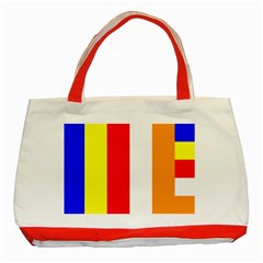 International Flag Of Buddhism Classic Tote Bag (red) by abbeyz71