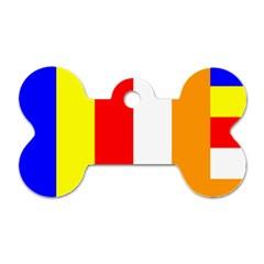 International Flag Of Buddhism Dog Tag Bone (two Sides) by abbeyz71