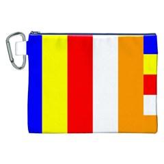 International Flag Of Buddhism Canvas Cosmetic Bag (xxl) by abbeyz71