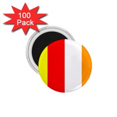 International Flag Of Buddhism 1 75  Magnets (100 Pack)  by abbeyz71