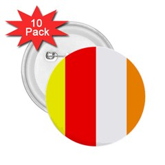 International Flag Of Buddhism 2 25  Buttons (10 Pack)  by abbeyz71