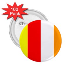 International Flag Of Buddhism 2 25  Buttons (100 Pack)  by abbeyz71