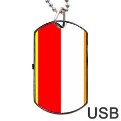 International Flag Of Buddhism Dog Tag Usb Flash (two Sides) by abbeyz71