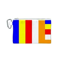 International Flag Of Buddhism Canvas Cosmetic Bag (s) by abbeyz71