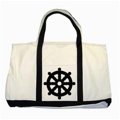 Dharmacakra Two Tone Tote Bag by abbeyz71