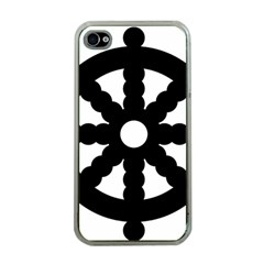 Dharmacakra Apple Iphone 4 Case (clear) by abbeyz71