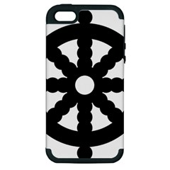 Dharmacakra Apple Iphone 5 Hardshell Case (pc+silicone) by abbeyz71