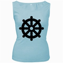 Dharmacakra Women s Baby Blue Tank Top by abbeyz71