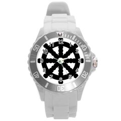 Dharmacakra Round Plastic Sport Watch (l) by abbeyz71