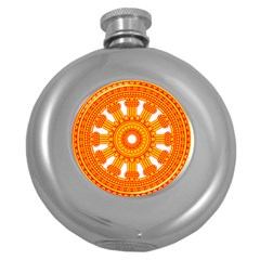 Dharmacakra Round Hip Flask (5 Oz) by abbeyz71