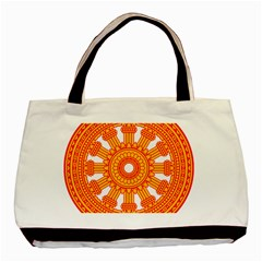 Dharmacakra Basic Tote Bag (two Sides) by abbeyz71