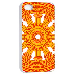 Dharmacakra Apple Iphone 4/4s Seamless Case (white) by abbeyz71
