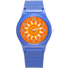 Dharmacakra Round Plastic Sport Watch (s) by abbeyz71