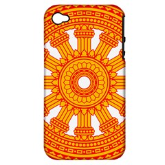 Dharmacakra Apple Iphone 4/4s Hardshell Case (pc+silicone) by abbeyz71