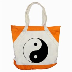 Yin & Yang Accent Tote Bag by abbeyz71