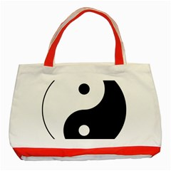 Yin & Yang Classic Tote Bag (red) by abbeyz71