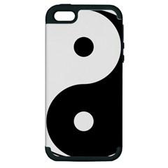 Yin & Yang Apple Iphone 5 Hardshell Case (pc+silicone) by abbeyz71