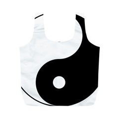 Yin & Yang Full Print Recycle Bags (m)  by abbeyz71