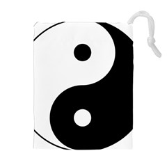 Yin & Yang Drawstring Pouches (extra Large) by abbeyz71