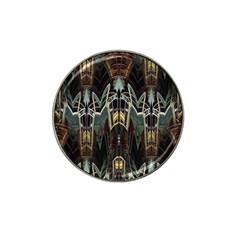 Urban Industrial Rust Grunge Hat Clip Ball Marker (4 Pack) by CrypticFragmentsDesign