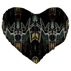 Urban Industrial Rust Grunge Large 19  Premium Heart Shape Cushions by CrypticFragmentsDesign