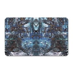 Angel Wings Blue Grunge Texture Magnet (rectangular) by CrypticFragmentsDesign